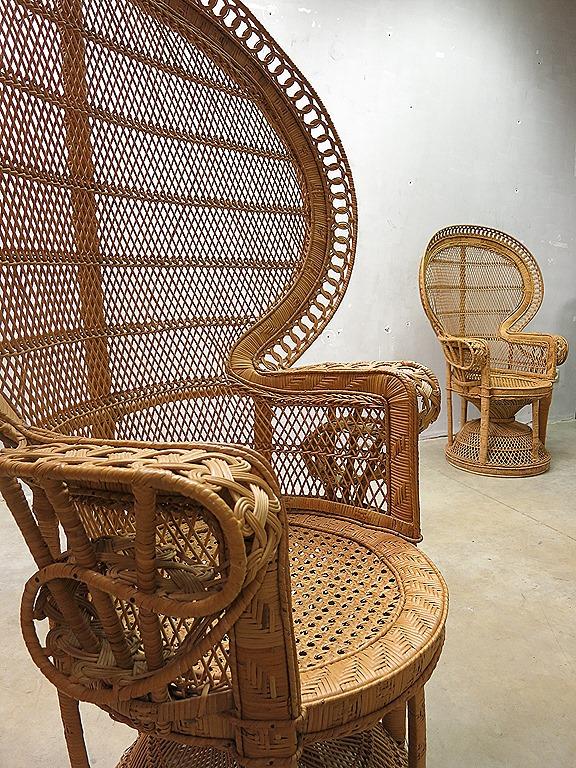 Vintage Peacock Chair Seventies Vintage Rotan Pauwen