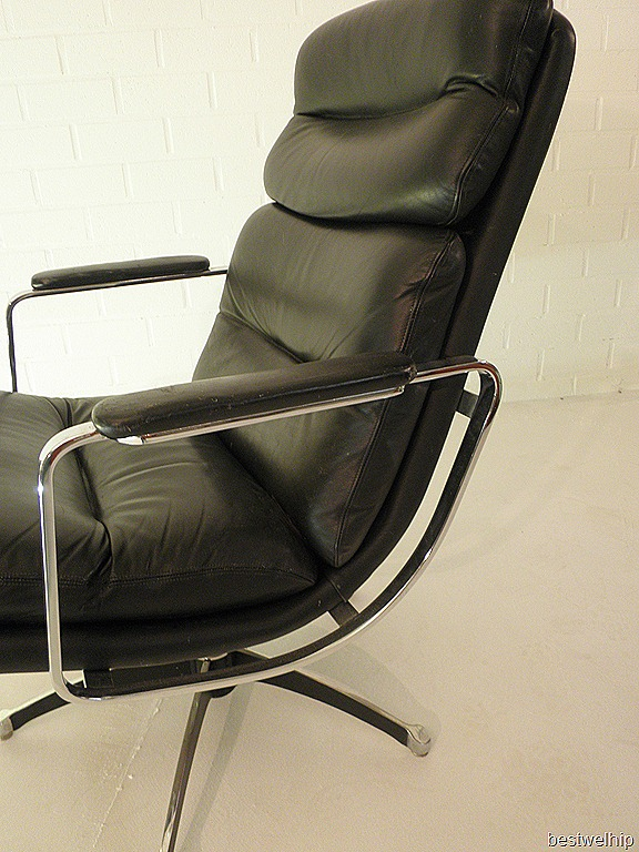 Leren Lounge Fauteuil.Vintage Leren Lounge Chair Eames Stijl Bestwelhip