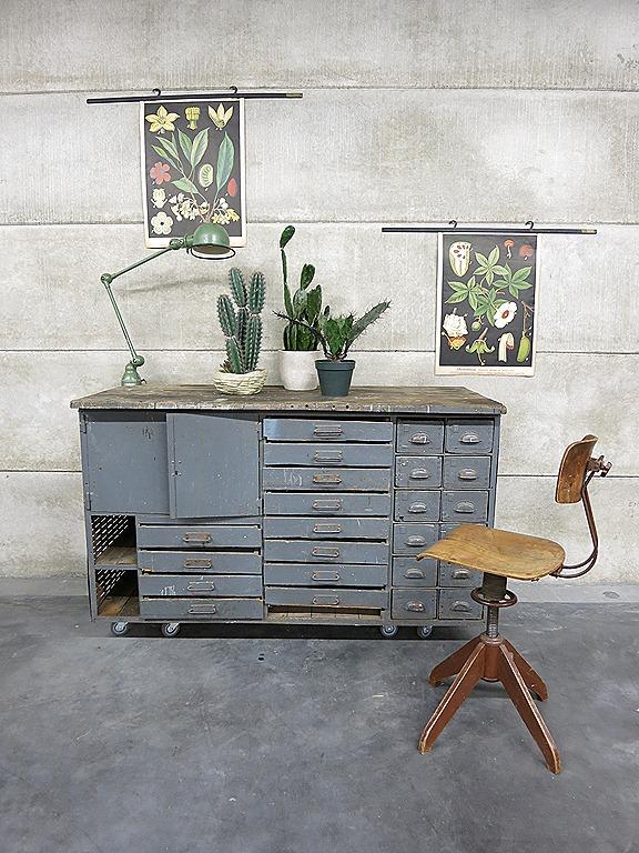 ... toonbank industrieel ladenkast dressoir kast industrieel vintage loft