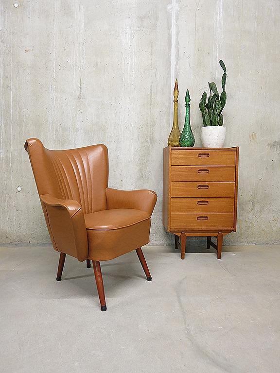 vintage skai leren clubfauteuil cocktail chair artifort bestwelhip