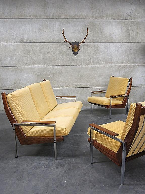 Mid Century Vintage Design Lounge Set Rob Parry Gelderland