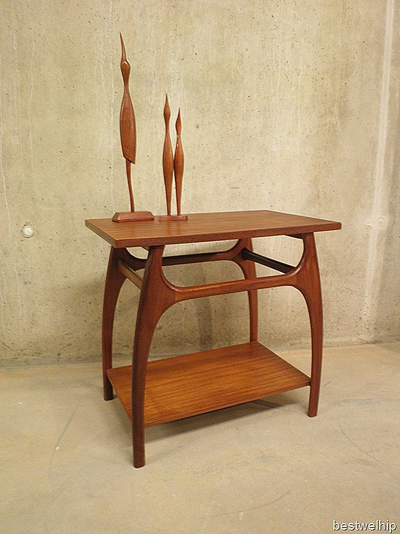 Vintage bijzettafel side table deense stijl bestwelhip for Deense meubels vintage