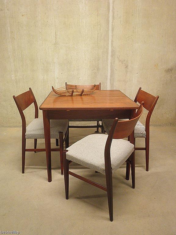Vintage eetkamer dining set deense stijl bestwelhip for Deense meubels vintage