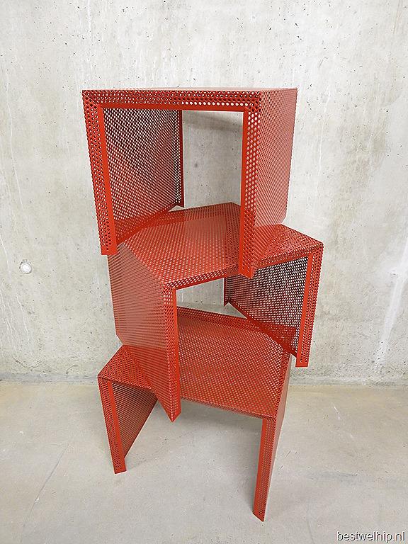 miniset nesting tables mathieu mategot stijl bestwelhip. Black Bedroom Furniture Sets. Home Design Ideas