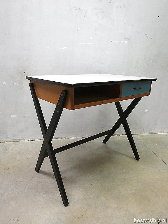coen de vries vintage dutch design bureau desk fifties. Black Bedroom Furniture Sets. Home Design Ideas