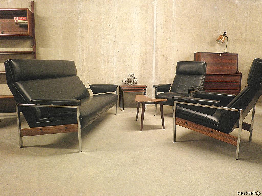 Vintage lounge set rob parry gelderland bestwelhip - Zwarte bank lounge ...