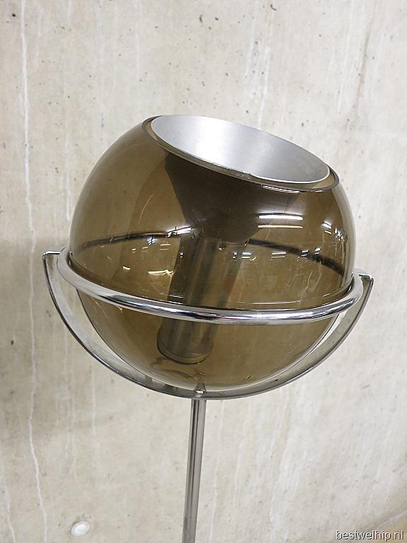 Raak vintage Globe floor lamp mid century Dutch design | Bestwelhip