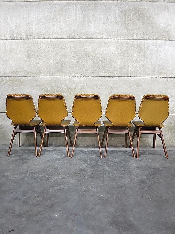 Vintage dining chairs, vintage design eetkamerstoelen Deense stijl