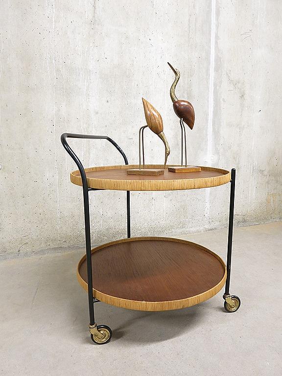 Mid century design trolley side table vintage design theewagen bijzettafel deens bestwelhip - Object design eigentijds ontwerp ...
