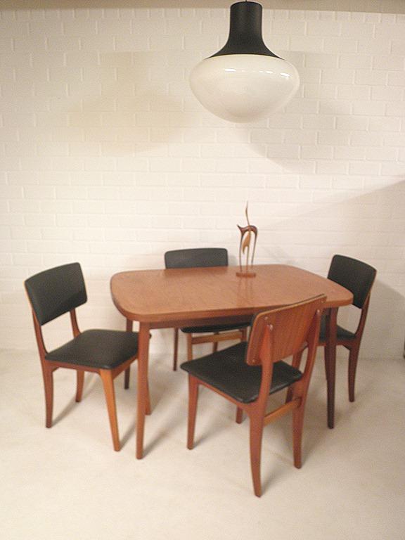 Vintage design eetkamer set stoelen tafel bestwelhip - Tafel en stoelen dineren ...