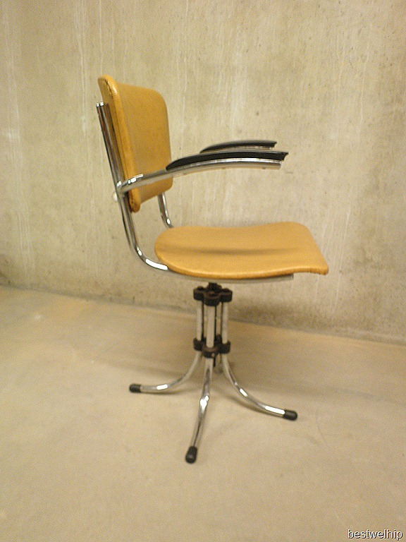 Vintage bureaustoel industrieel bestwelhip for Bureaustoel vintage