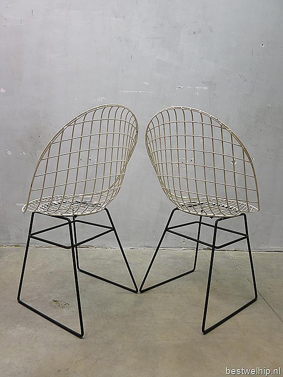 Pastoe Draadstoel Tweedehands.Mid Century Design Wire Chair Pastoe Cees Braakman Vintage