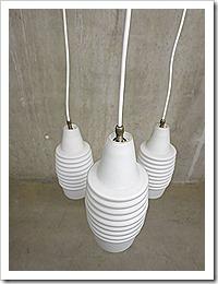 Deense Mid century design 'Boomerang' lamp kelk lamp, Danish pendant lamp