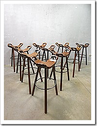Spanish stools Mid century vintage design krukken barkruk Spaans