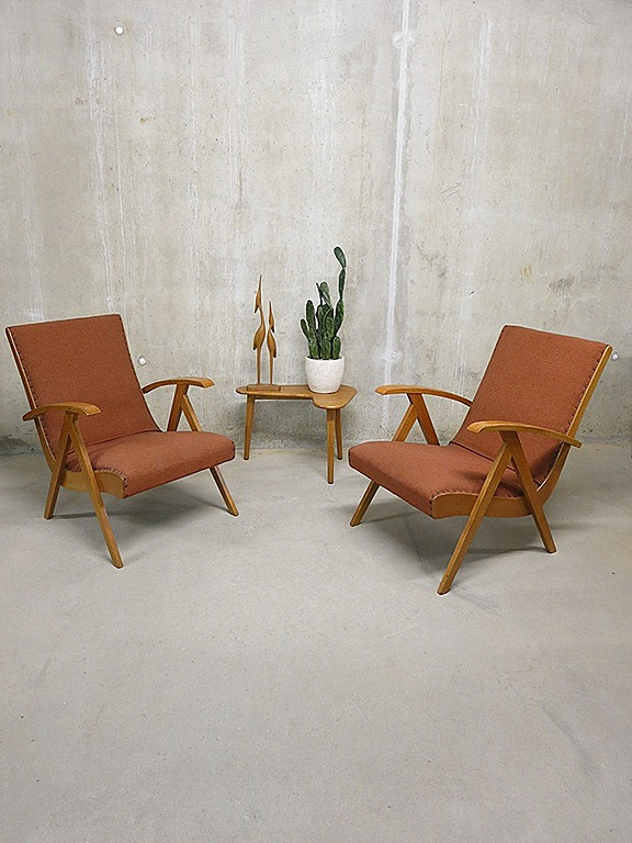 Vintage lounge fauteuils easy chairs scandinavische stijl bestwelhip - Lounge stijl ...