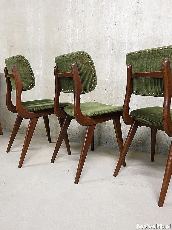 Vintage Design Eetkamer Stoelen Deens Dinning Chairs Danish Style ...