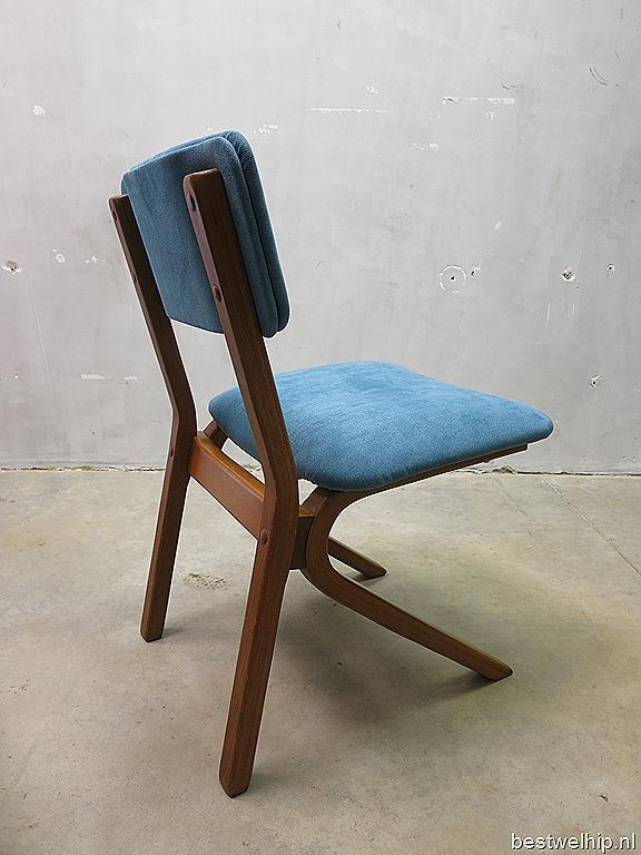 Vintage design eetkamerstoelen Deense stijl, vintage dinner chairs mid century Danish design