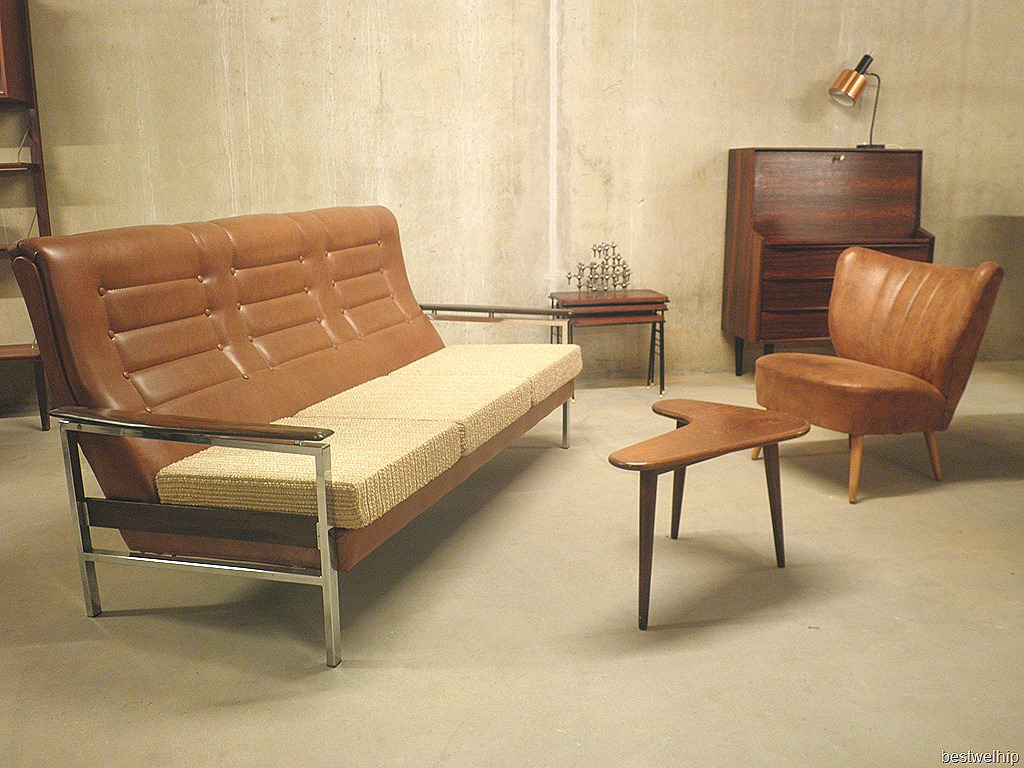 Vintage Leren Bank : Modern vintage bank sofa industrieel bestwelhip