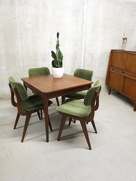 vintage design eetkamer stoelen tafel Deense stijl Webe