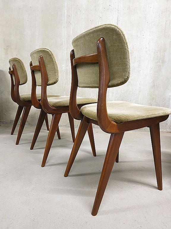Vintage design eetkamerstoelen Webe Louis van Teeffelen | Bestwelhip
