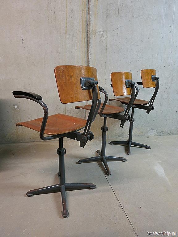Friso Kramer Barkrukken Industrieel Vintage Design