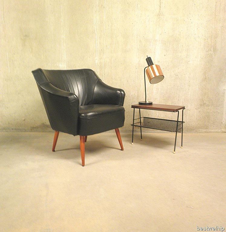 Zwarte cocktail chair kuipstoel jaren 50 bestwelhip for Kuipstoel fauteuil