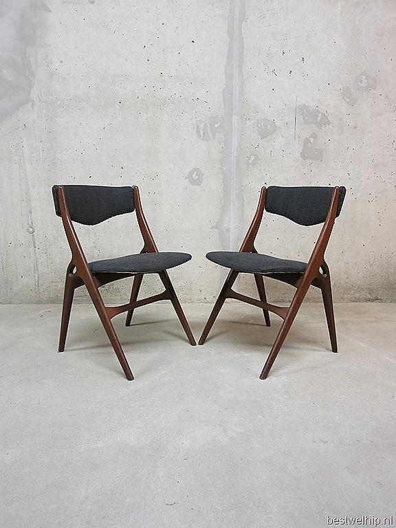 Danish mid century design dinner chairs h olsen for Eetkamerstoelen deens design