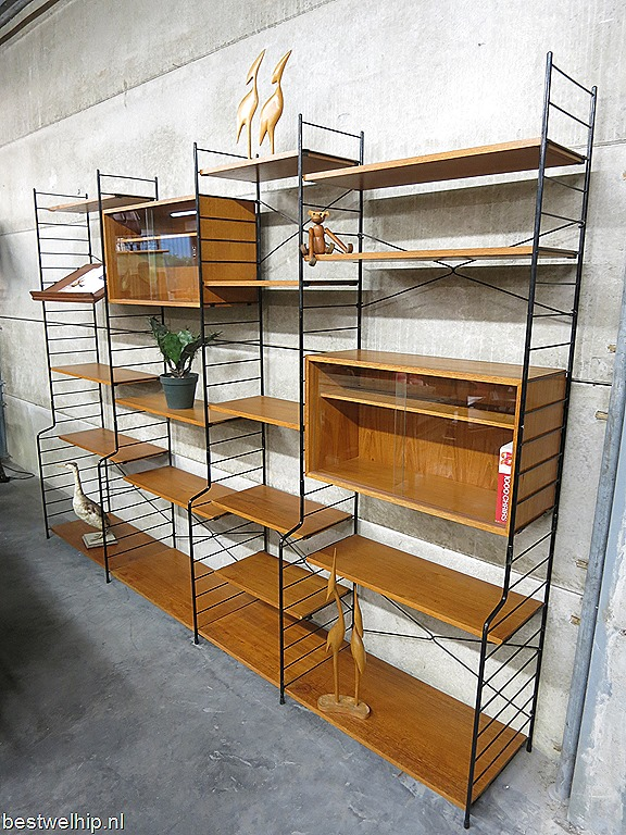 Mid century design wall unit Danish style, Deens vintage ...