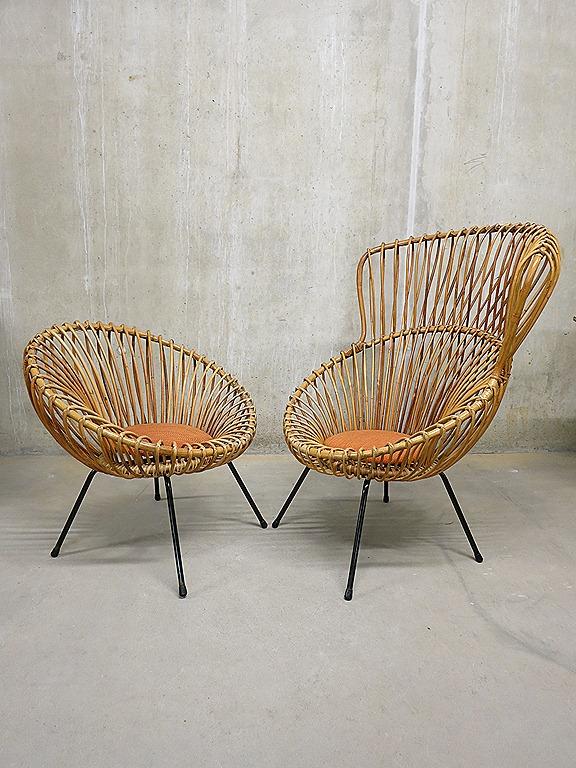 Rohe Rotan Lounge Chairs Franco Albini Style Bestwelhip