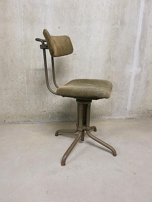 Gispen typiste stoel desk chair industrial bestwelhip for Bureaustoel vintage