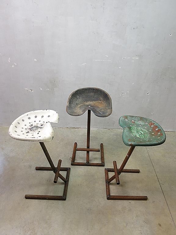 Vintage Tractor Stools : Tractor barkruk vintage industrial design seat