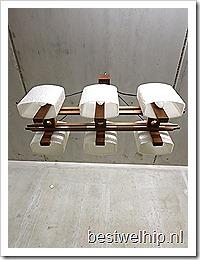 Deense vintage kroonluchter luster Danish pendant lamp mid century design