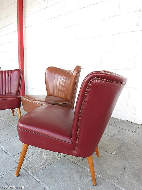 Vintage clubfauteuils cocktail stoelen fifties bestwelhip - Stoelen rock en bobois ...