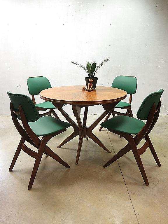Webe vintage design eetkamer stoelen Louis van Teeffelen dining chairs   Bestwelhip