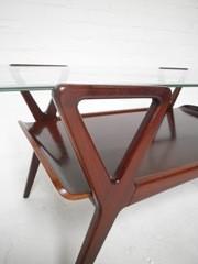 salontafel, koffie tafel vintage retro Cor Alons stijl, coffee table vintage