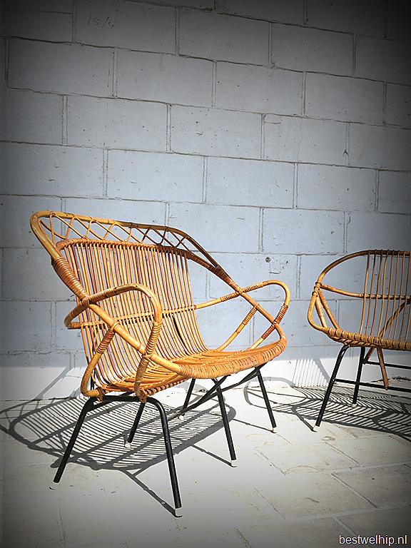 Vintage design rotan lounge bank sofa rohe noordwolde bestwelhip - Rotanbank plaatsen ...