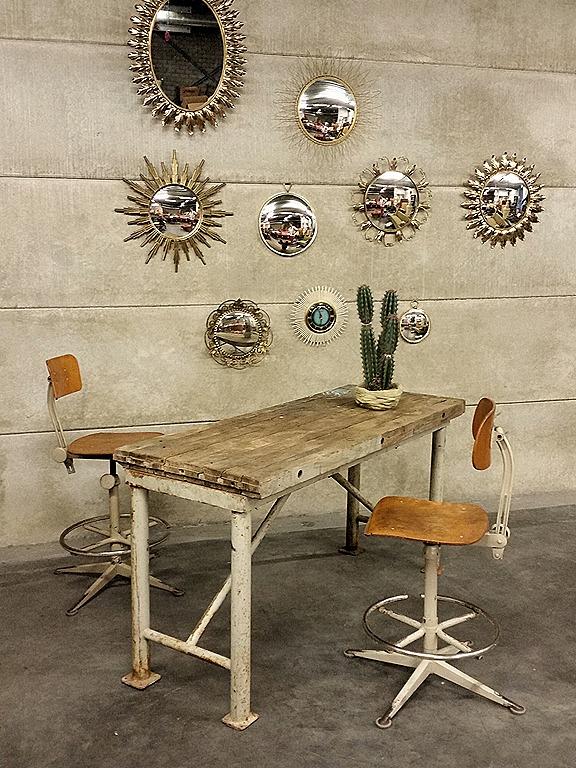 Industriele Werkbank Sidetable.Werkbank Tafel Industrieel Bureau Desk Table Side Table