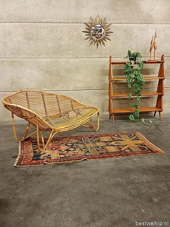Rotan vintage design bank chaise lounge sofa rattan bestwelhip - Rotanbank plaatsen ...