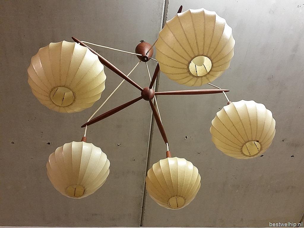 Mid century design deense kroonluchter lamp danish pendant lamp