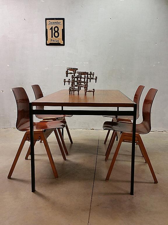 Design Houten Stoelen.Vintage Design Stacking Chairs Dining Chairs Vintage Houten