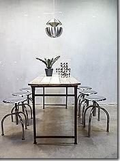 Vintage kruk krukken industrieel Maquet, vintage Industrial stool Maquet