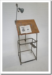drawing table industrial, industriele vintage tekentafel
