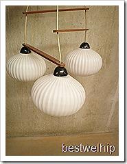retro vintage hanglamp melkglas Deense stijl