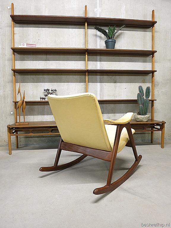 Vintage design schommelstoel mid century design rocking chair Webe ...