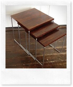 nesting tables '60, vintage bijzettafel Brabantia  miniset