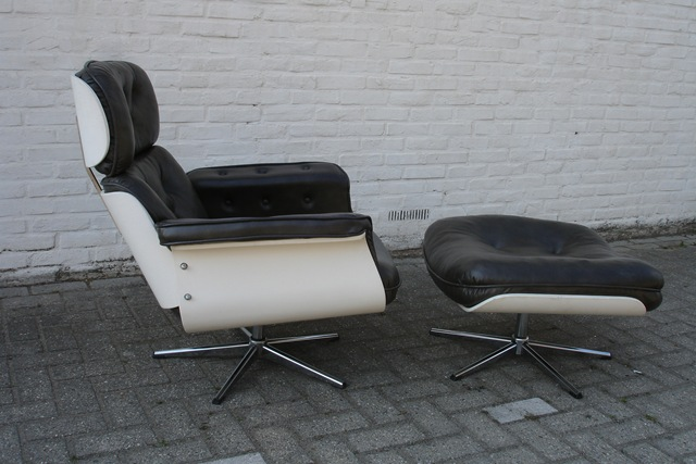 Lounge stoelen eames stijl jaren 60 bestwelhip - Lounge stijl ...