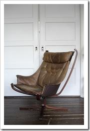 Falcon chair Siigurd Ressel, scandinavische design fauteuil