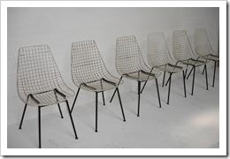 draadstoelen, wire chairs