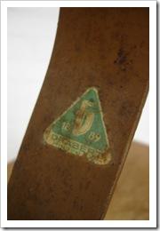 industriele vintage design bureau stoel Drabert 1889