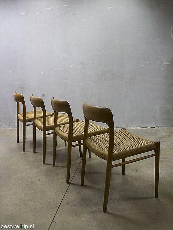 Danish mid century vintage design dinner chairs Mu00f8ller, Deense ...